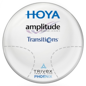 Hoya Hoya Amplitude Transitions® SIGNATURE VII - [Grey] Phoenix Trivex Lenses